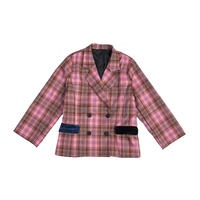CHECK DOUBLE JACKET (pink)