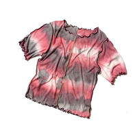 SKY tie-dye rib T (pink)