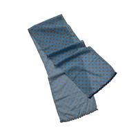 dot×check long scarf (sax blue)