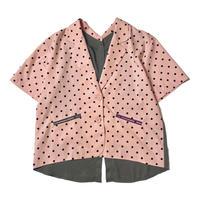 2way DOT shirt jacket (pink)