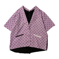 2way DOT shirt jacket (purple)