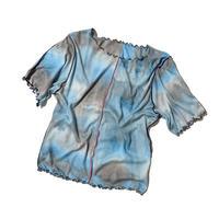 SKY tie-dye rib T (blue)