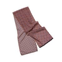 dot×check long scarf (pink)