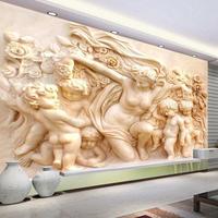 3D壁紙 美しい壁紙 ヨーロッパスタイル 彫刻 壁画 カスタム 壁紙 リビングルーム ソファ 背景