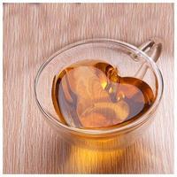 二重壁ティーカップ 耐熱 ハート型 ダブルガラス ガラス茶カップ ジュースマグ ミルク コーヒーカップ