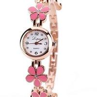 海外大人気 ファッション 2018年新作 高級ブランド クォーツ腕時計 ステンレス レディース時計 ピンク