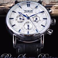 エレガントなデザイン 本革ストラップ 男性腕時計 メンズ腕時計 トップブランドの高級時計