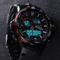 カジュアルウォッチ 男性 防水 スポーツミリタリー腕時計 メンズ デジタルクオーツ時計