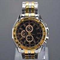 海外大人気ブランド クォーツ腕時計 メンズ スチールバンド ビジネス プレゼント ギフト 日本未入荷 話題沸騰 ブラックゴールド