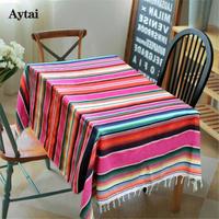 手作りメキシコ綿毛 ウェディング テーブルクロス メキシコスタイル 毛布 旅行 キャンプ ベッドカバー