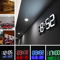 3D LED インテリア 壁掛け時計 おしゃれ オシャレ デジタル ウォールクロック 選べる4色 LED アンティーク かわいい 目覚まし時計 居間 デスク