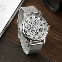 ビジネスステンレス鋼腕時計 男性腕時計 トップブランド クォーツ時計