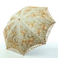 折りたたみ傘 雨 女性 折りたたみuv 保護傘 刺繍 レースバンバーシュートファッション プリント傘
