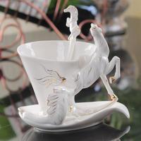 馬 エナメルコーヒーカップ 磁器 セラミック 欧州 贈り物