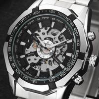 メンズ腕時計 トップ高級ブランド ファッション スケルトン時計 自動機械式時計 文字盤のカラーは黒or白♪