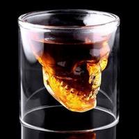 頭蓋骨 ヘッドショットガラス 透明 パーティー ビールグラス ワイングラス