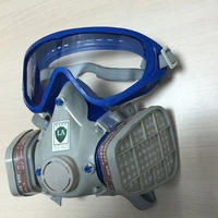 ゴーグル付き防毒マスクガスマスクテロ農薬公害対策シリコンパッド高耐久品