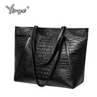 Ybyt 高級海外人気トップブランド 女性 ウィメンズ ハンドバック クロコダイル 大容量 ブラック