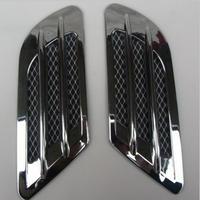 2ピース/セット プラスチックステッカー 車のサイド エアフローベン フェンダー グリルダクト装飾