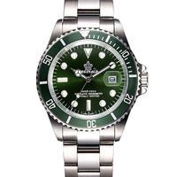 高級ファッション メンズ 腕時計 クォーツ鋼 防水 ダイバー レジナルド トップブランド レロジオ グリーン