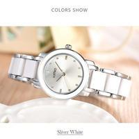 キミオ高級ファッション女性の腕時計クォーツ ステンレス鋼のブレスレット