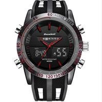 日本未入荷 海外ブランド Readeel ラグジュアリーメンズ腕時計 防水 LED デジタル クォーツ ミリタリー レッド