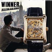 レトロカジュアルシリーズ スケルトン メンズ腕時計 海外トップブランド 高級機械式時計 ゴールド
