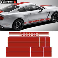 Ford Mustang 2015-2017 サイドドアロッカーパネル ストライプ フロント リアボンネットトランク グラフィック