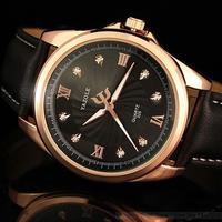 Yazole 2018 クォーツ時計 メンズ 腕時計 海外トップブランド 高級 ブラック×ゴールド シンプルデザイン