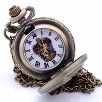 ハリーポッター ホグワーツ学校ラ ダイヤルクォーツ懐中時計 ペンダントネックレス メンズ レディース
