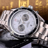 メンズ腕時計 TORBOLLO トップブランド ラグジュアリー ドレスデザイン ブラックフェイス ホワイト