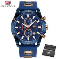 メンズ腕時計 海外高級ブランド ミリタリー ラバーストラップ 防水 クロノグラフ クォーツ時計 ブルー