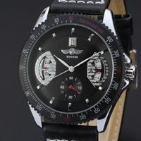 ミリタリー メンズ 腕時計 海外トップブランド 防水 オートマティック スポーツウォッチ レザーベルト W09602