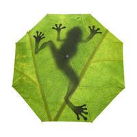 クリエイティブ カエル 子供傘 折りたたみ傘 グリーン傘 雨 女性 日焼け止め uv傘