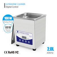 強力超音波洗浄機 2L JP010T 業務用 クリーナー デジタル 加熱機能有 歯 ステンレス
