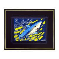 水彩画レプリカ・高質仕上げ ヨシキリザメ