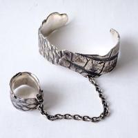 クロコ柄 bangle&ring