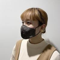 小花柄レースマスク(STL074 GREIGE)