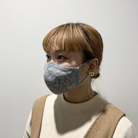 小花柄レースマスク(STL074 L.GRAY)