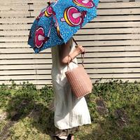 BonBonStore 日傘 アフリカンバティック(青×ピンク)