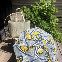 BonBonStore  日傘 アフリカンバティック (青×黄)