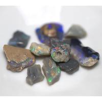 ブラックオパールルース 原石セット 227104