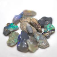 ブラックオパールルース 原石セット 227110