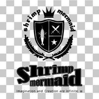shrimp mermaid/ロゴマーク縦/png
