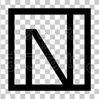 和モダン/黒/png/N