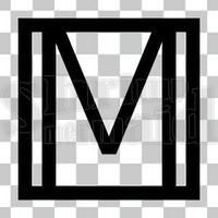 和モダン/黒/png/M
