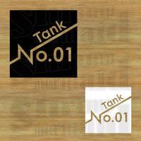 ステッカーシート / TankNo.01~99 / 文字抜き