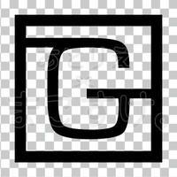 和モダン/黒/png/G