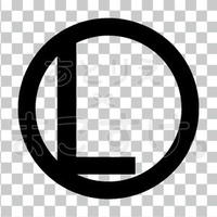 シンプル/黒/png/L