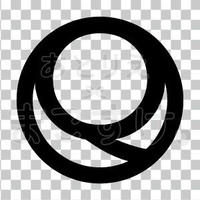 シンプル/黒/png/Q